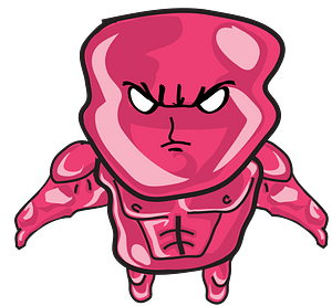 Pink Jelly Man clipart