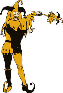 Jester in Yellow and Black clipart