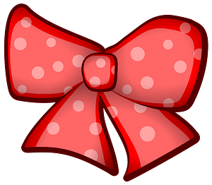 Red Ribbon Bow with White Spots clipart