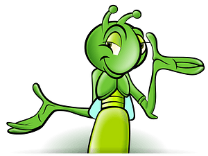 Smiling Green Cricket clipart