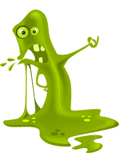 The Blob - Green Slime clipart