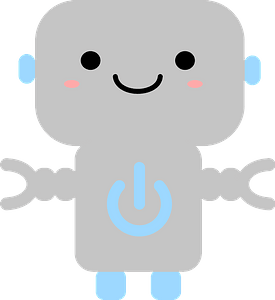 Robot with Power Symbol clipart