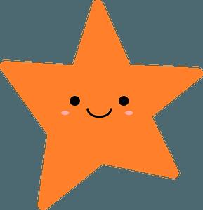 Smiling Orange Star clipart