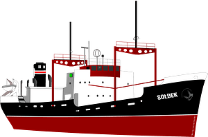 Red Ocean Liner clipart