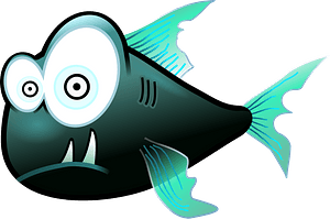 Green Piranha clipart