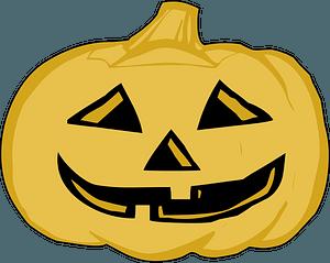 Light Yellow Jack-o'-lantern clipart