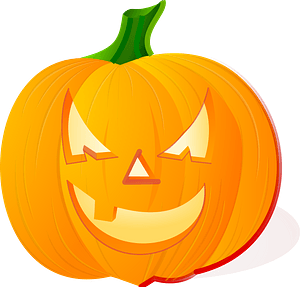Jack-o'-lantern with an evil expression clipart