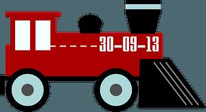 Toy Red Steam Locomotive clipart