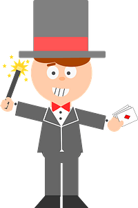 Magician Wearing Gray clipart
