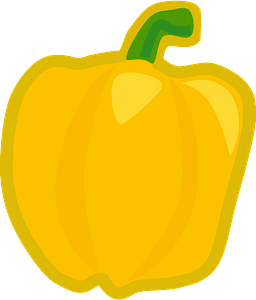 Yellow Sweet Bell Peeper clipart