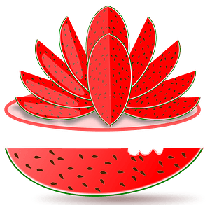 Watermelon Sculpture clipart