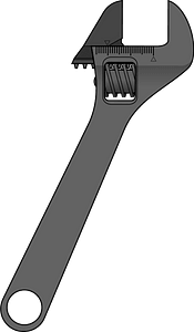 Adjustable Wrench clipart