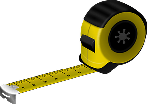 Black and Yellow Tape Measure clipart