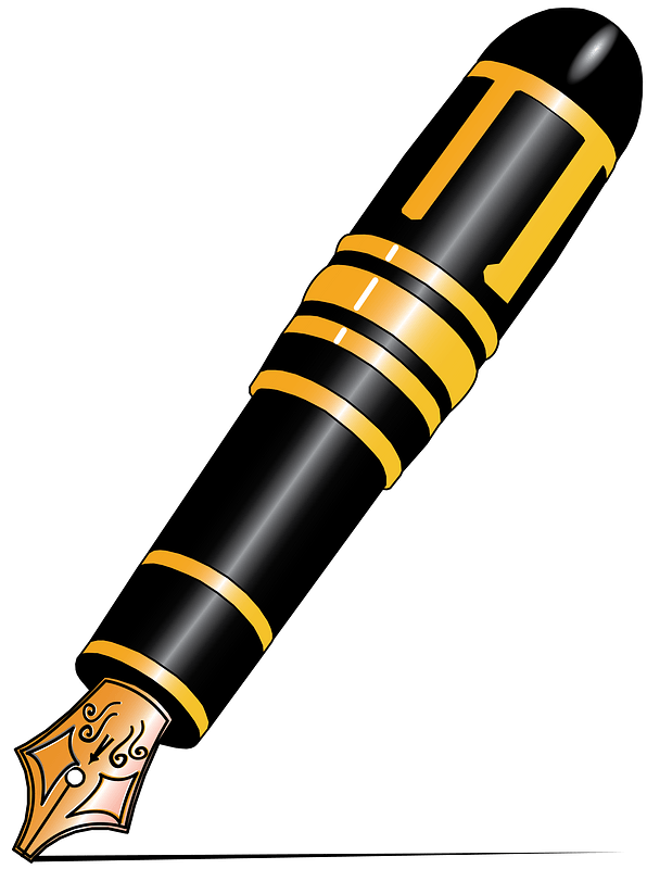 black and yellow mont blanc fountain pen clipart free download transparent png creazilla https creazilla com pages 4 license information