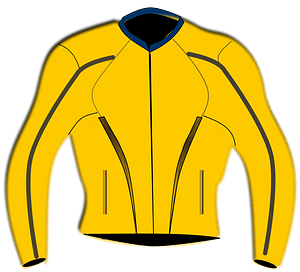 Yellow Motorsports Jacket clipart
