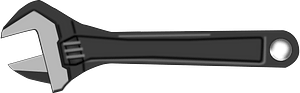 Black and White Channellock Wrench clipart