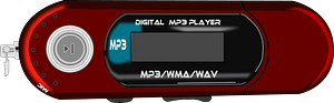 Red Mp3 Player clipart