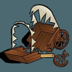Broken Wagon clipart