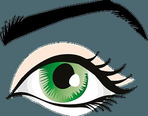 Human eye - Green clipart