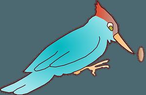 Blue Woodpecker clipart