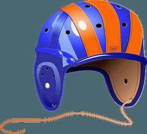 1940'S Leather Football Helmet clipart