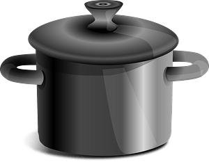 Stock Pot with Lid clipart