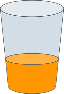 Orange Juice in a Glass clipart