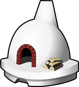 Wood-fired Brick Oven clipart