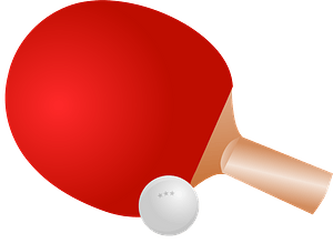 Ping Pong Paddle and Ball clipart