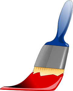 Paint Brush Painting Red clipart