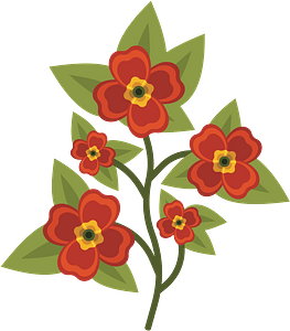 Orange Pansy Flowers clipart