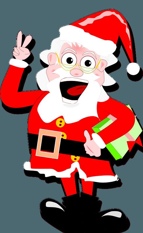 Crazy Santa Clipart