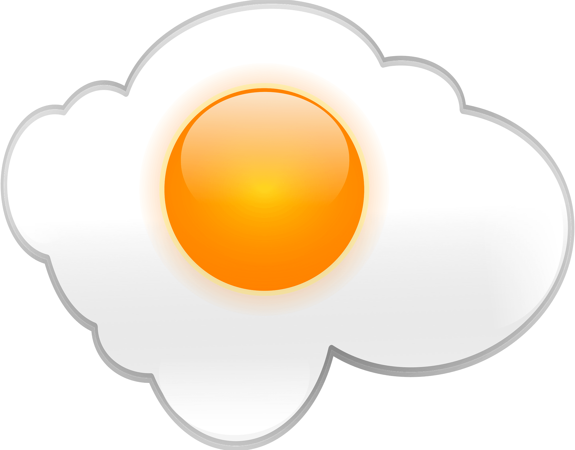Free Fried Egg Clip Art - Fried Egg - 450x450 PNG Download - PNGkit