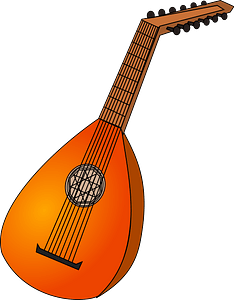 Lute clipart