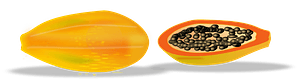 Papaya Sliced clipart