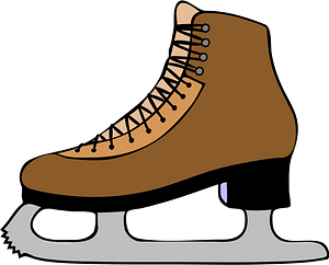 Brown Ice Skate clipart