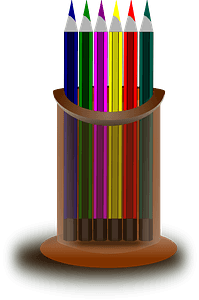 Brown Pencil Holder Stand clipart