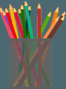 Gray Mesh Pencil Cup clipart