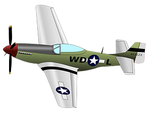 P51 Mustang Airplane clipart