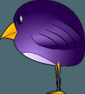 Purple Bird clipart