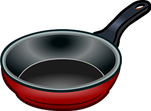 Red Skillet clipart