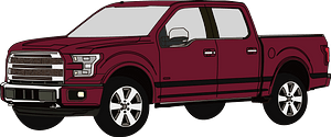 Brown 4-Door Pickup Truck clipart