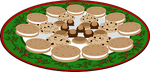 Plate of Yummies clipart