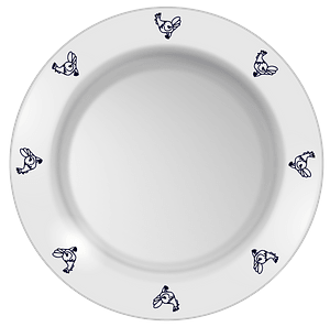 Plate Decorated with Chickens clipart
