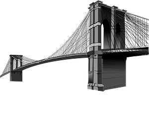 Brooklyn bridge clipart