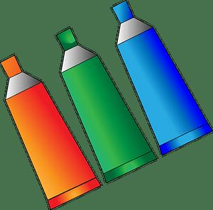 Paint tubes clipart