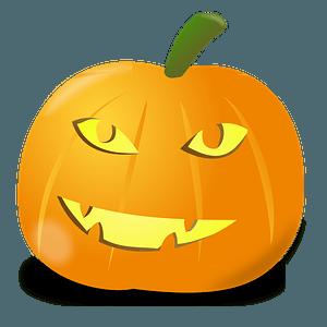 Smiling Jack-o'-lantern clipart