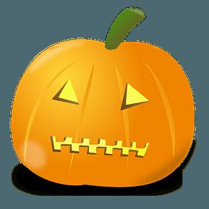 Pumpkin with a zipper mouth clipart