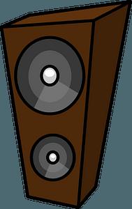 Brown Funky Speaker clipart