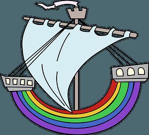 Rainbow Boat clipart